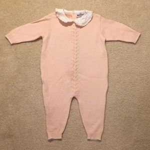 EUC marielle wool knit baby one piece